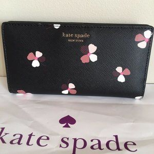 kate spade Bags - Kate Spade Camron Dust Buds Ditsy Large WALLET